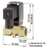 Busch Jost 8253000.8001.02400 2/2-way Solenoid Diaphragm Valve G1/4 24V DC